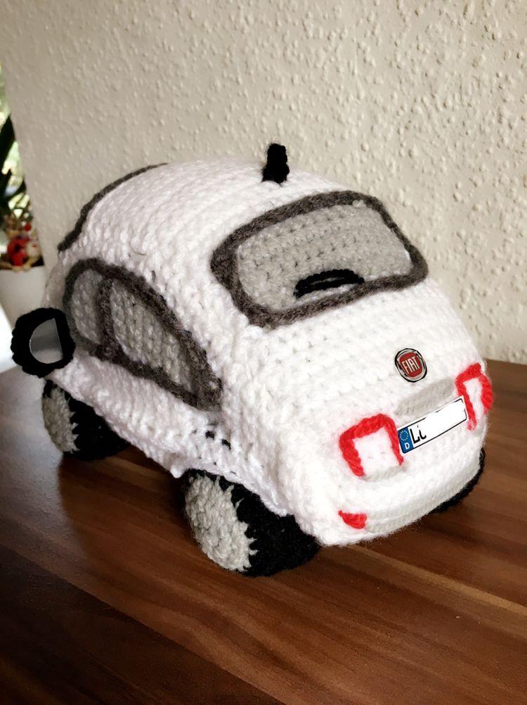 Auto häkeln, Fiat 500   Häkeln   Pinterest   Süße Teilchen, Autos ...