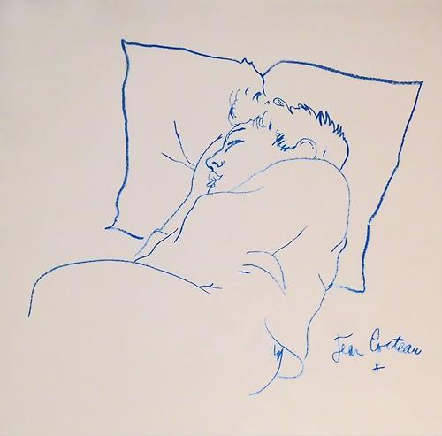 Raymond Radiguet sleeping by Jean Cocteau