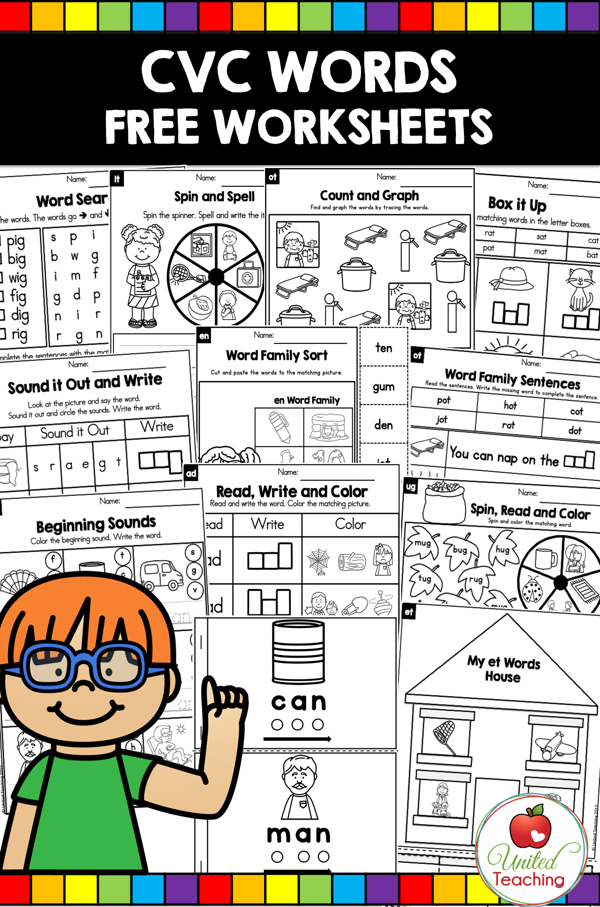 Cvc Words Worksheets Free Cvc Cvcwords Free Words