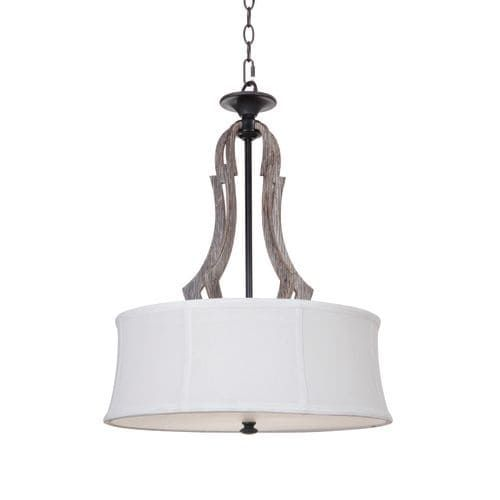 Jeremiah Lighting 35193 Winton 3 Light Large Indoor Pendant - 18 Inches Wide - weathered pine