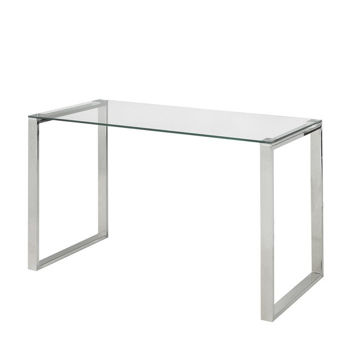 Lilly Glass Writing Desk Glass Desk Glass Computer Table
