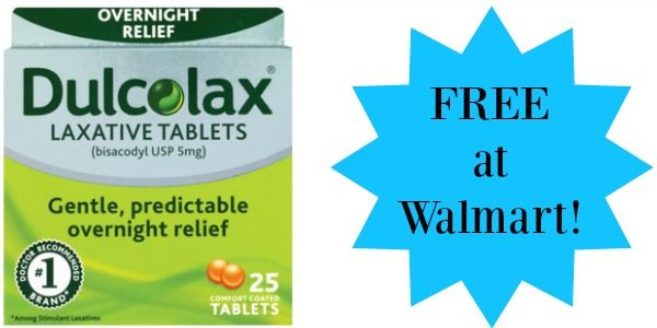 FREE Dulcolax Laxative Tablets at Walmart!