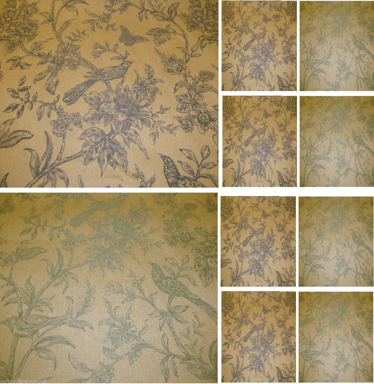 Vichy Bird Toile De Jouy Curtain Fabric