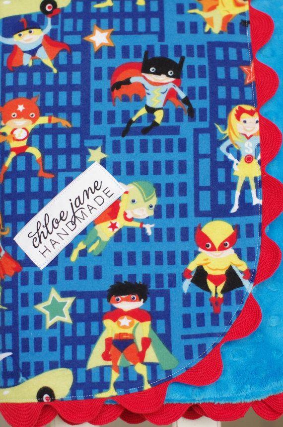 SALE Baby/Infant Blanket for Boy Super Soft by chloejanehandmade, $28.00