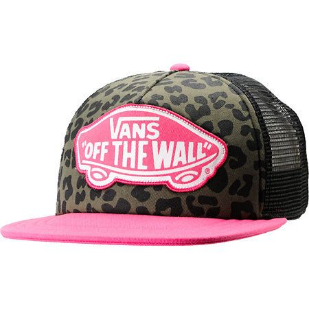 ff46f58308a Vans Pink   Leopard Print Trucker Hat