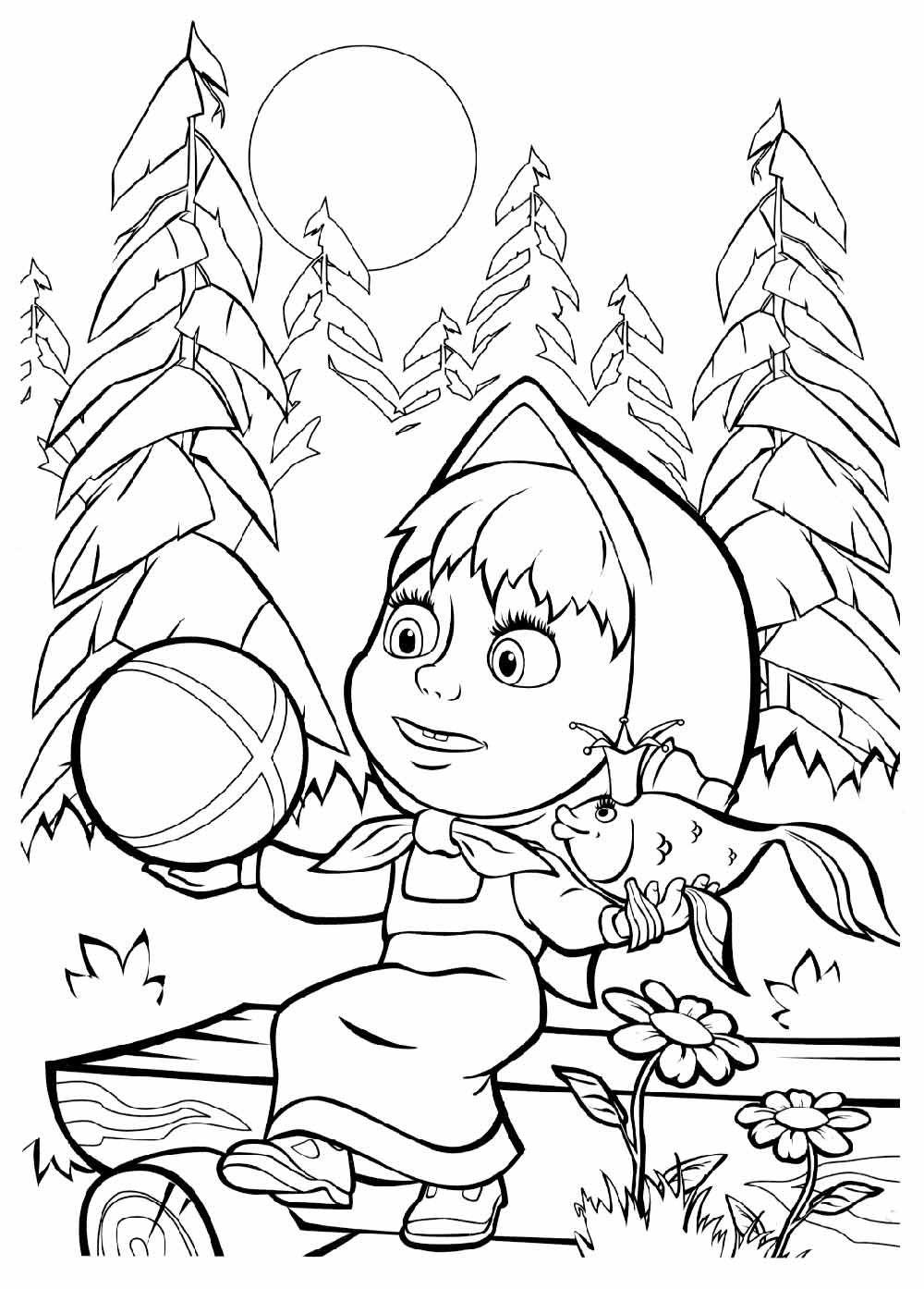Tales Coloring Masha And The Bear Colouring