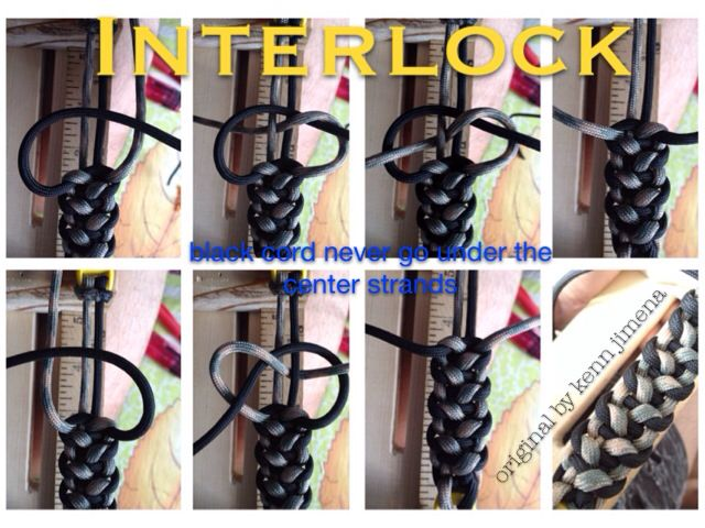 Interlocked Paracord Bracelet