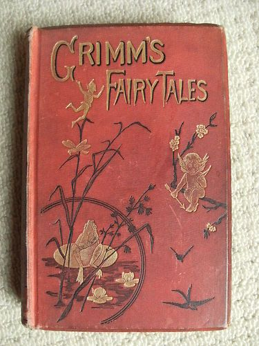 Old Fairytale Book Cover : Grimms fairy tales and household stories for young people