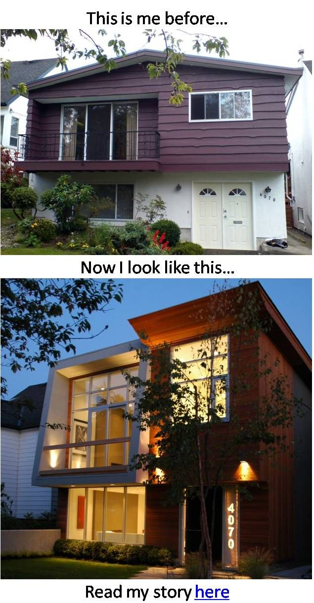 Vancouver house before and after amazing renovations for Modern house exterior remodel
