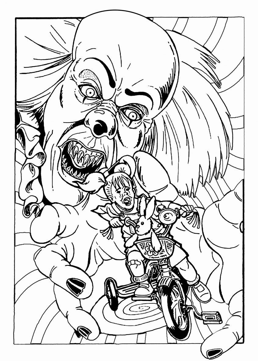 Scary Halloween Coloring Pages Inspirational Coloring Page