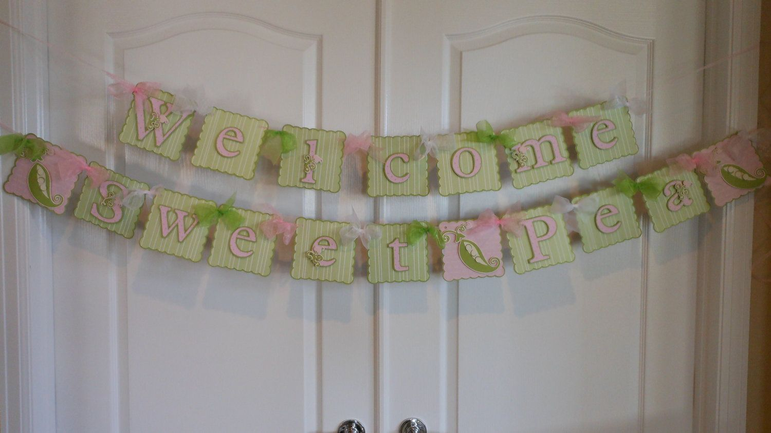 Sweet Pea Baby Shower Banner New Baby Shower Twin Shower Baby Sprinkle Twin Baby Shower Baby Shower Card Sayings Baby Shower Baby Shower Cards