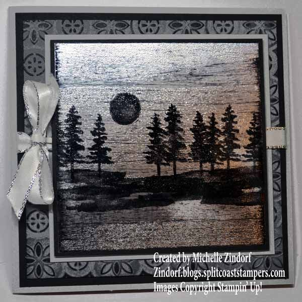 Black Ice Waterfront Card By Michelle Zindorf