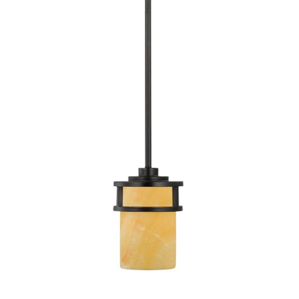 Bronze mini pendant light with onyx cylinder shade mini pendant bronze mini pendant light with onyx cylinder shade aloadofball Image collections