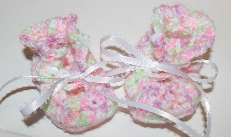 Emma\'s Baby Booties Free Crochet Pattern | Needlework for Charity ...