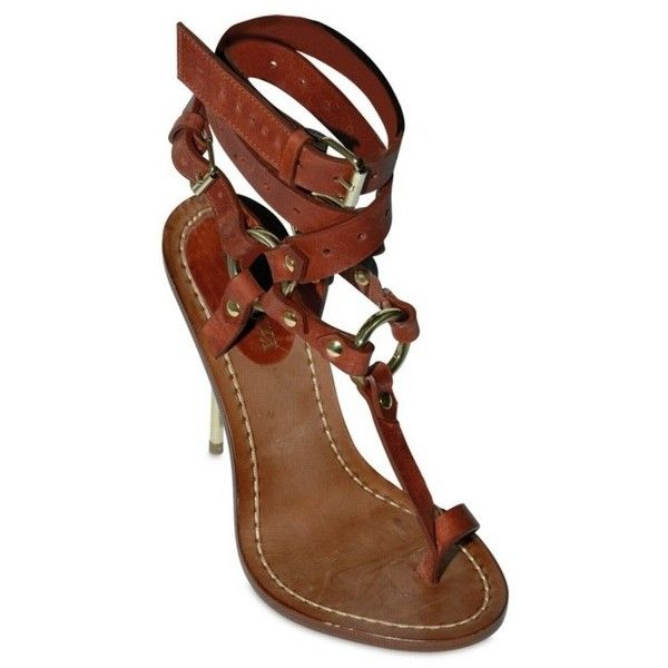 0c7d4017b704eb Emilio Pucci - 120mm Criss Cross Ankle Thong Sandals in brown (burgundy)