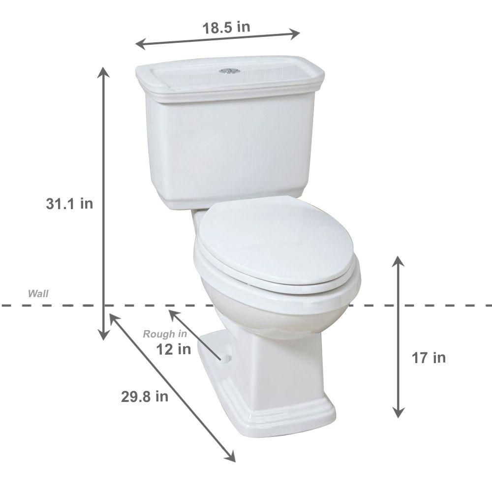 Glacier Bay 2 Piece 1 0 Gpf 1 28 Gpf High Efficiency Dual Flush