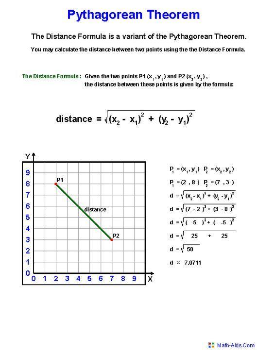Pythagorean Theorem Definition Worksheets Pythagorean Theorem