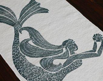 Bath Rug Bath Mat MERMAID Cotton Chenille Rug Bathroom Ideas - Chenille bath rug for bathroom decorating ideas