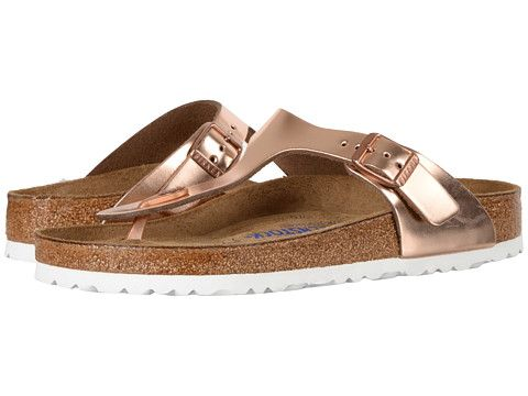 03eb982fc89 Birkenstock Gizeh Soft Footbed Metallic Copper Leather - Zappos.com Free  Shipping BOTH Ways