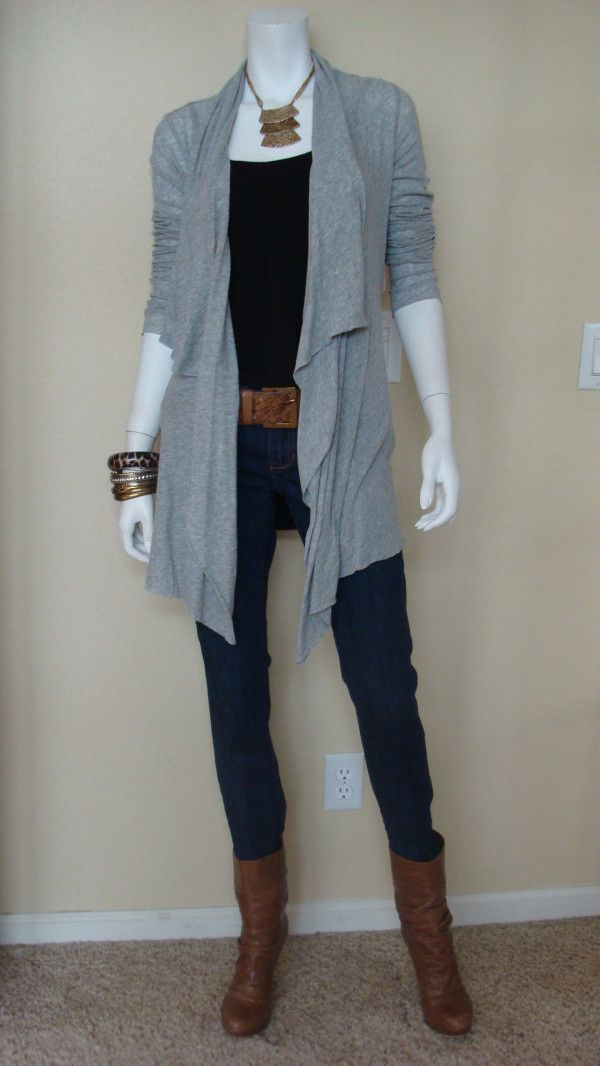 Daily Look:@CAbiClothing #Spring13 #Fashion Just Right Cami, Tee Shirt Topper, Weave it to Me Belt & fall's Brando  I would wear a different shoe here - but like the look!!