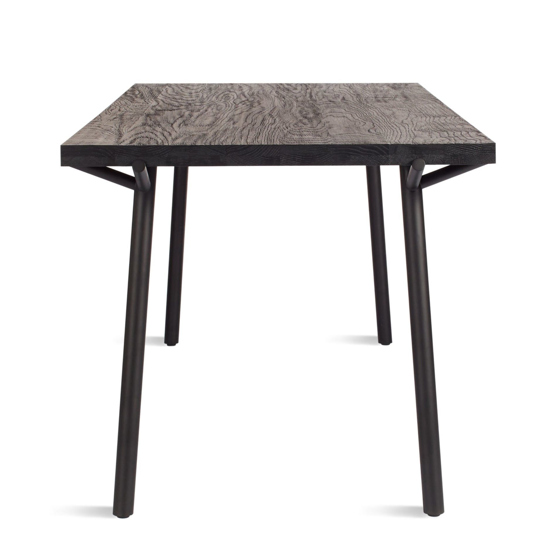 Branch 91 Dining Table Black On Oak Furniture In