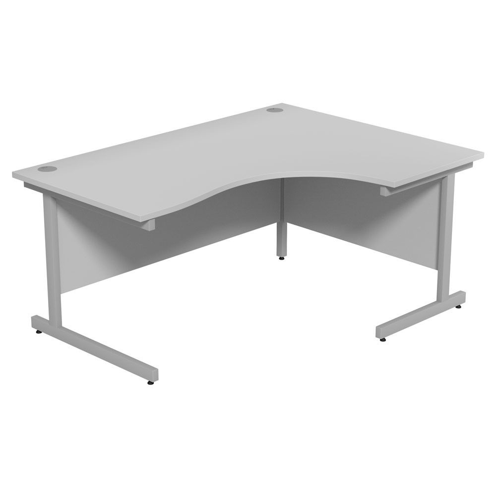 white corner office desk. Dusk Corner Office Desk - Cantilever Frame | Helping To Maximise Your Work Space With Its White 7