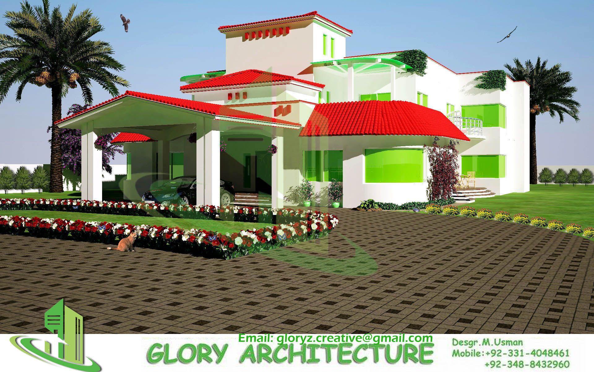 Front Elevation Naksha : Farm house front elevation plan