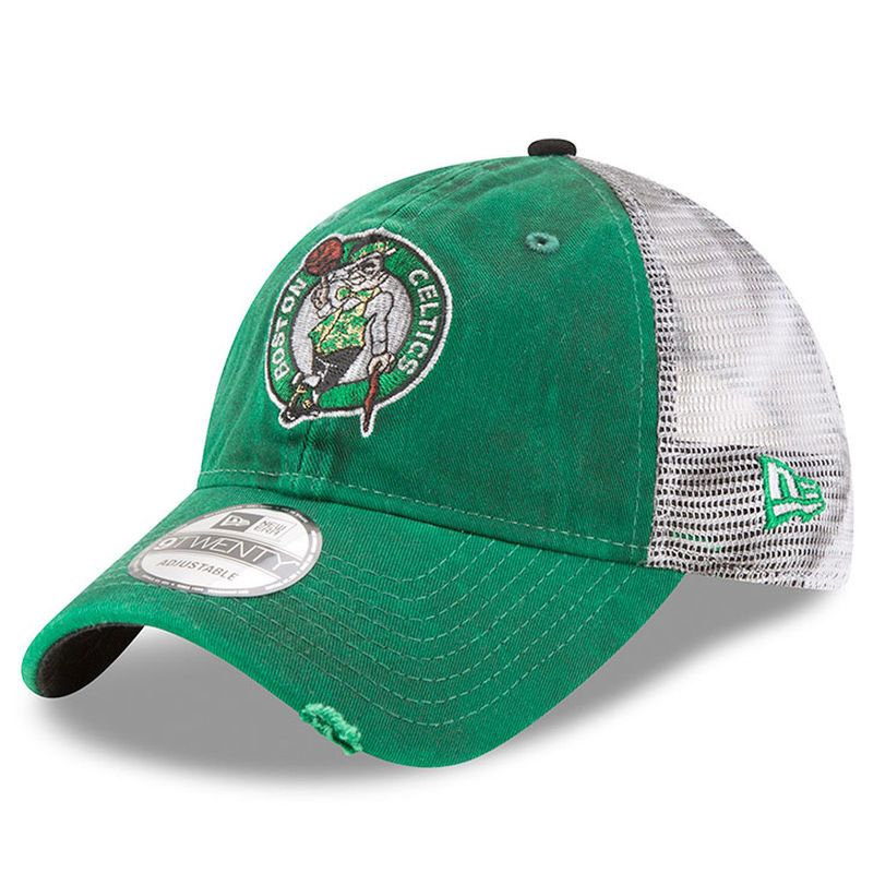 promo code 60e5c f8477 Boston Celtics New Era Team Rustic 9TWENTY Adjustable Snapback Hat - Kelly  Green White