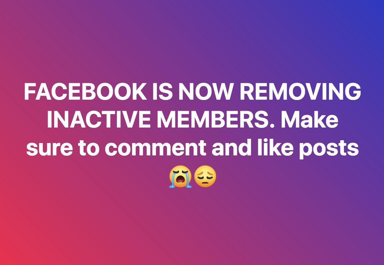 Is Facebook Removing Inactive Members from Groups? (con
