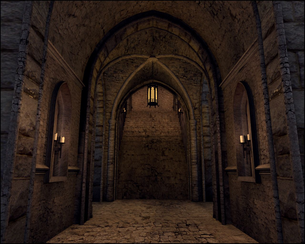 Quality Of Candlelight Medieval Castle Interior