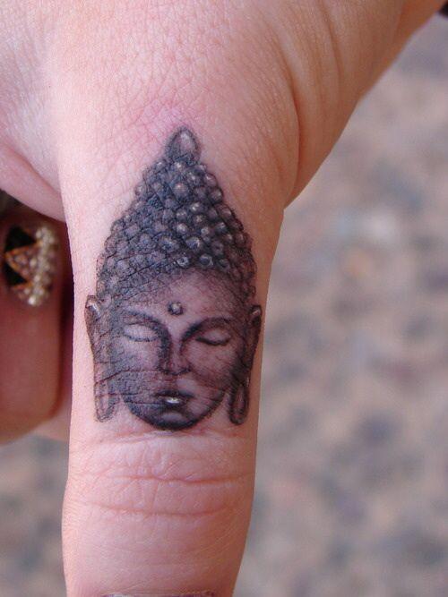 Cute Buddha Head Tattoo On Thumb Not On Thumb For Me Though