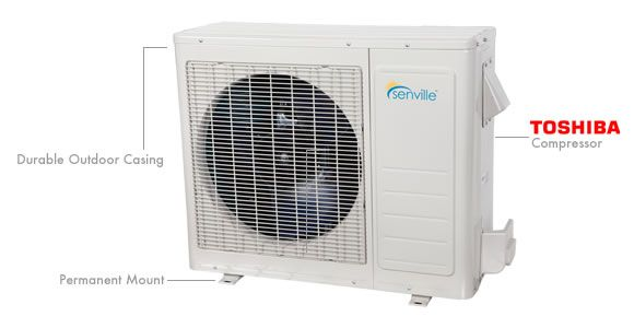 Mini Split Air Conditioners Single Zone High Efficiency Ductless Air Conditioner Heat Pump System Heat Pump