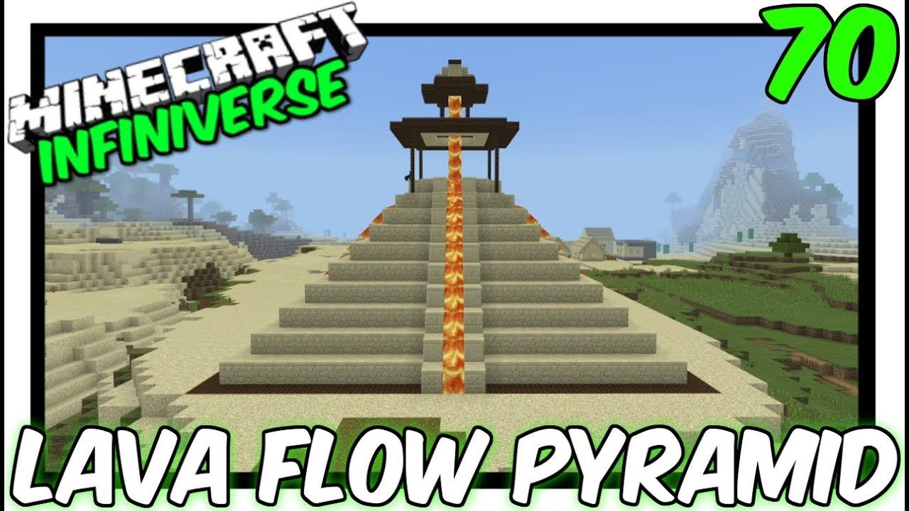 Lava Flow Pyramid 70 Minecraft Bedrock Infiniverse With Images