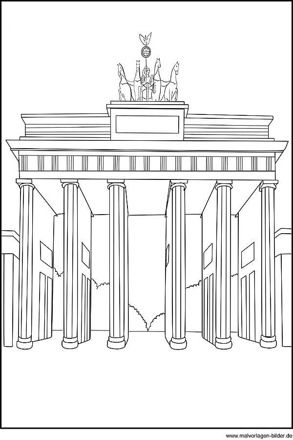 Ausmalbilder Brandenburger Tor 349 Malvorlage Alle Ausmalbilder ...