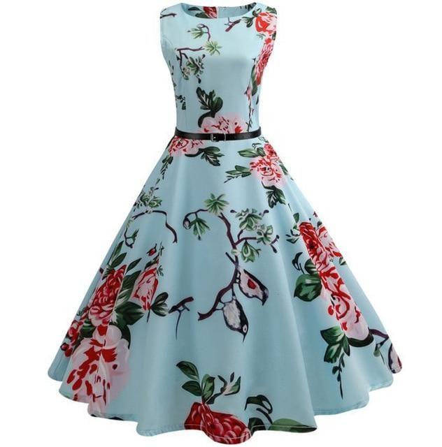 Vintage Summer Print Patterned Dress