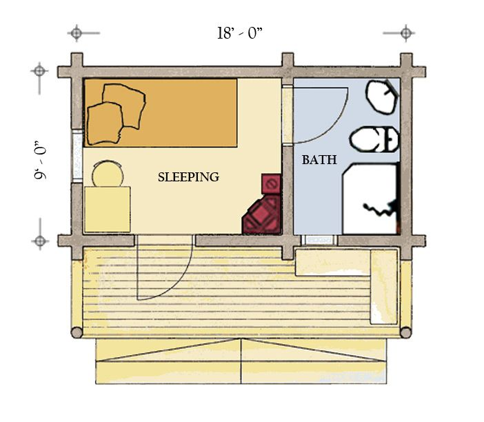 Small Log Cabin Floor Plans – Log Homes Floor Plans Colorado