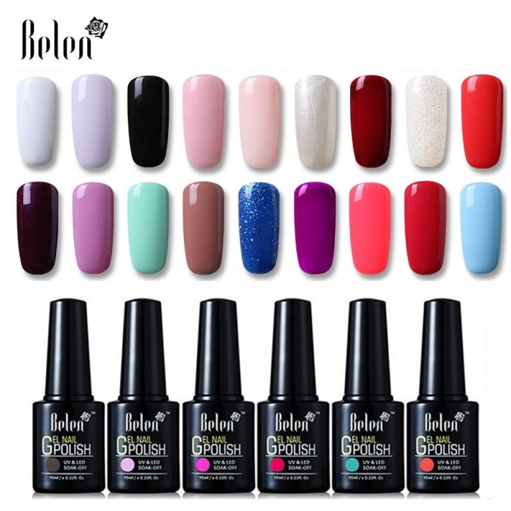Belen 10ml Uv Gel Nail Polish Pure Color Gel Gradient Based Nail Lacquer Primer Gel Polish Top Coat Nail Art Gels For Nails Art In 2020 Nail Polish Gel Nail Art