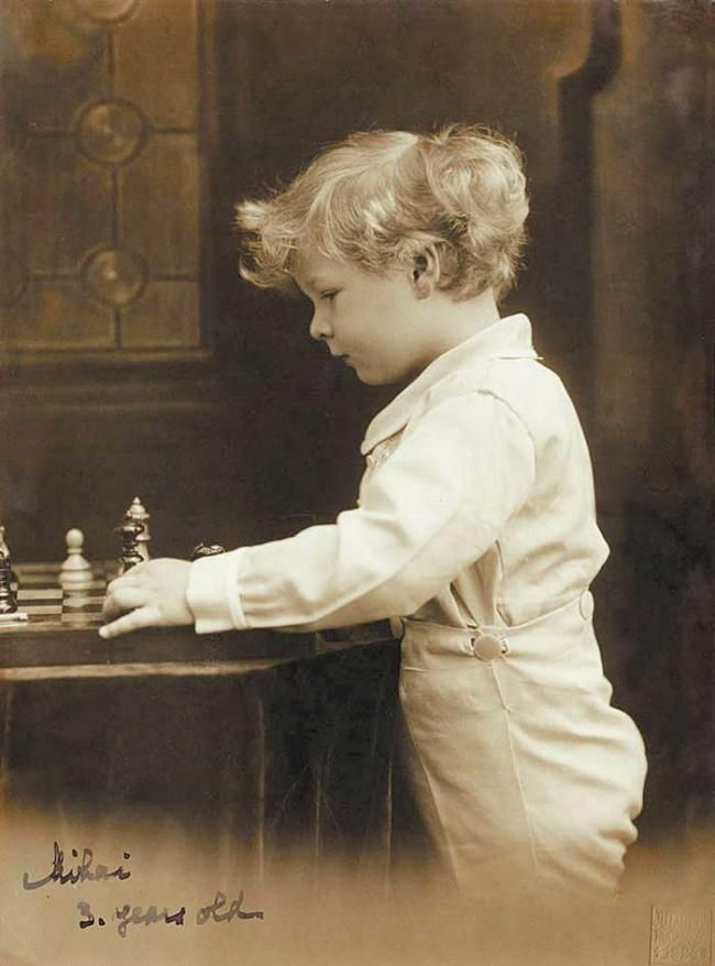 King Michael of Romania when he was 3 years old