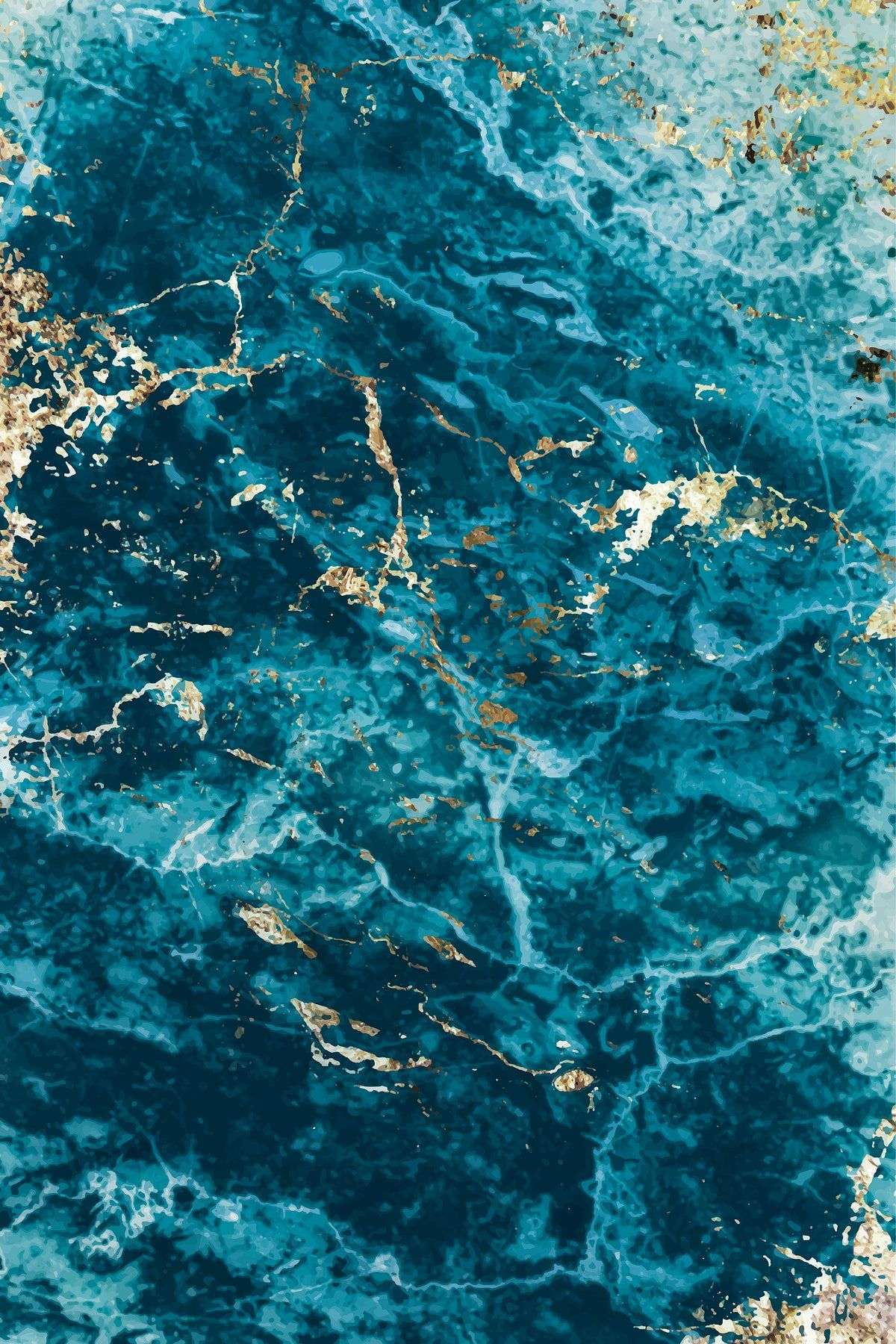Download premium vector of Blue and gold marble textured background vector