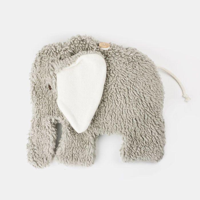 Kirschkerntier und Wärmekissen Elefant hellgrau mit herausnehmnbaren ...