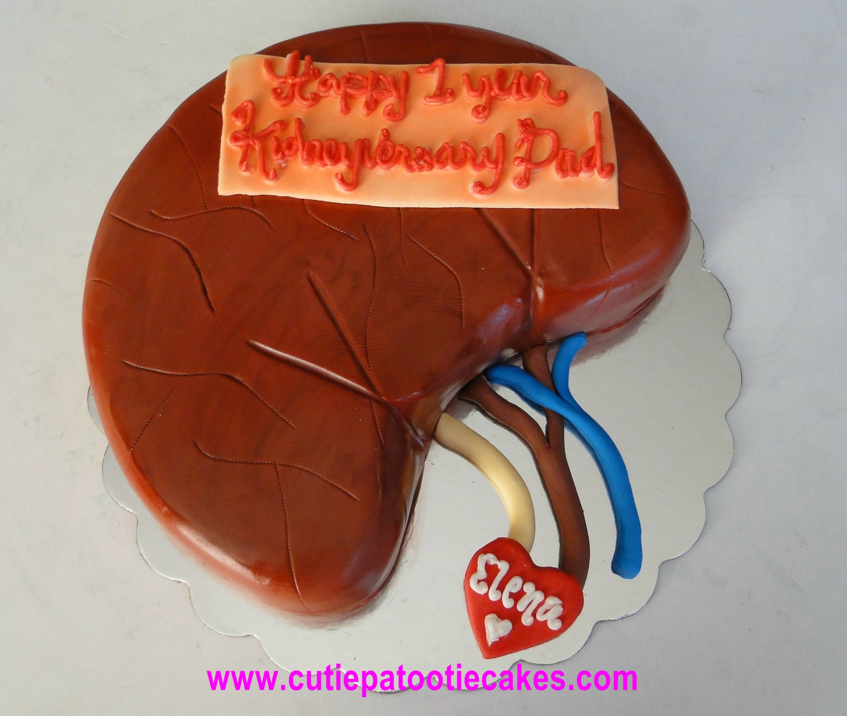 How To Make A Kidney Shaped Cake