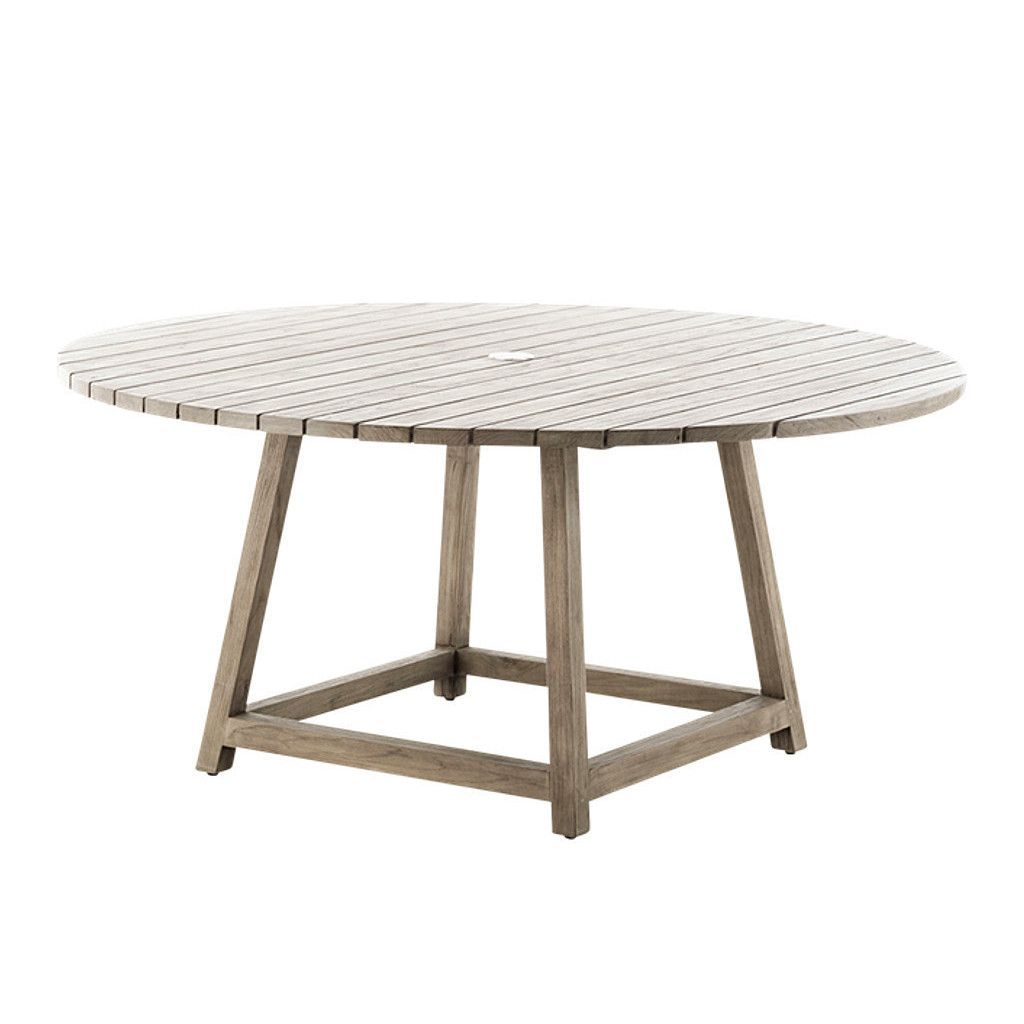 George Outdoor Dining Table Round in 2020 | Outdoor teak