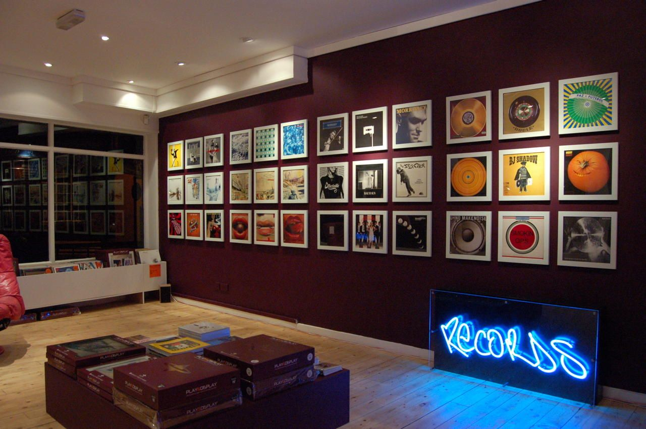 I want a feature wall like this above my sofa | Album art wall ...