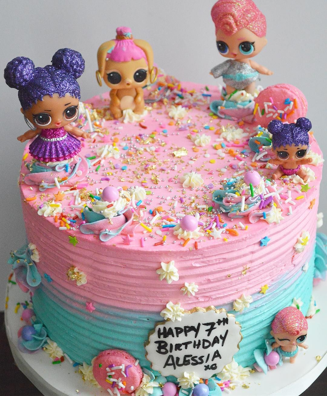 Happy Sunday! how cute is this LOL Surprise Doll cake