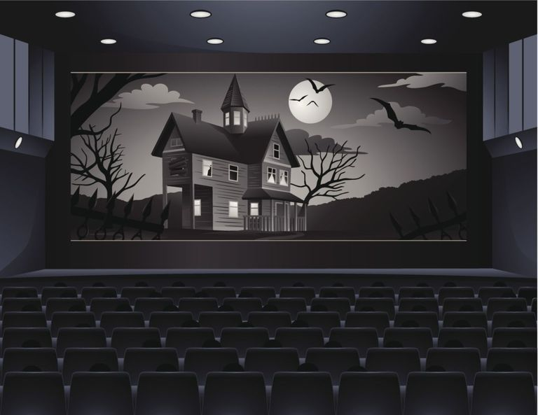 A theater showing a scary movie.   Halloween Ideas   Pinterest ...