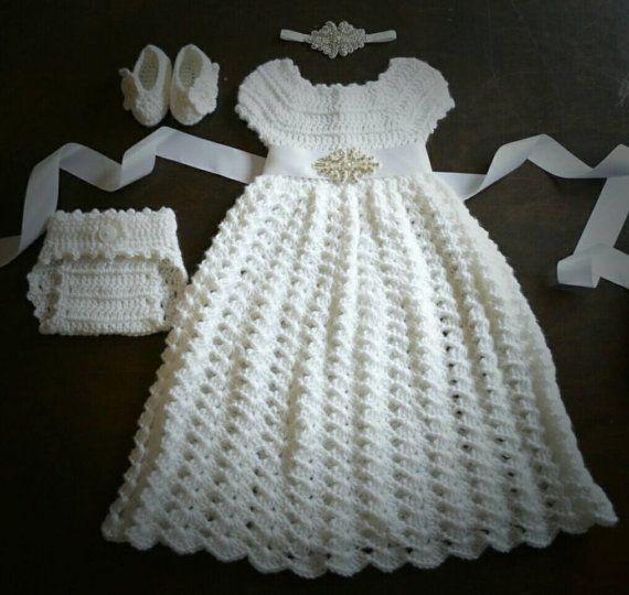 Bautismo bautizo vestido flor chica vestido bebé traje de la ...