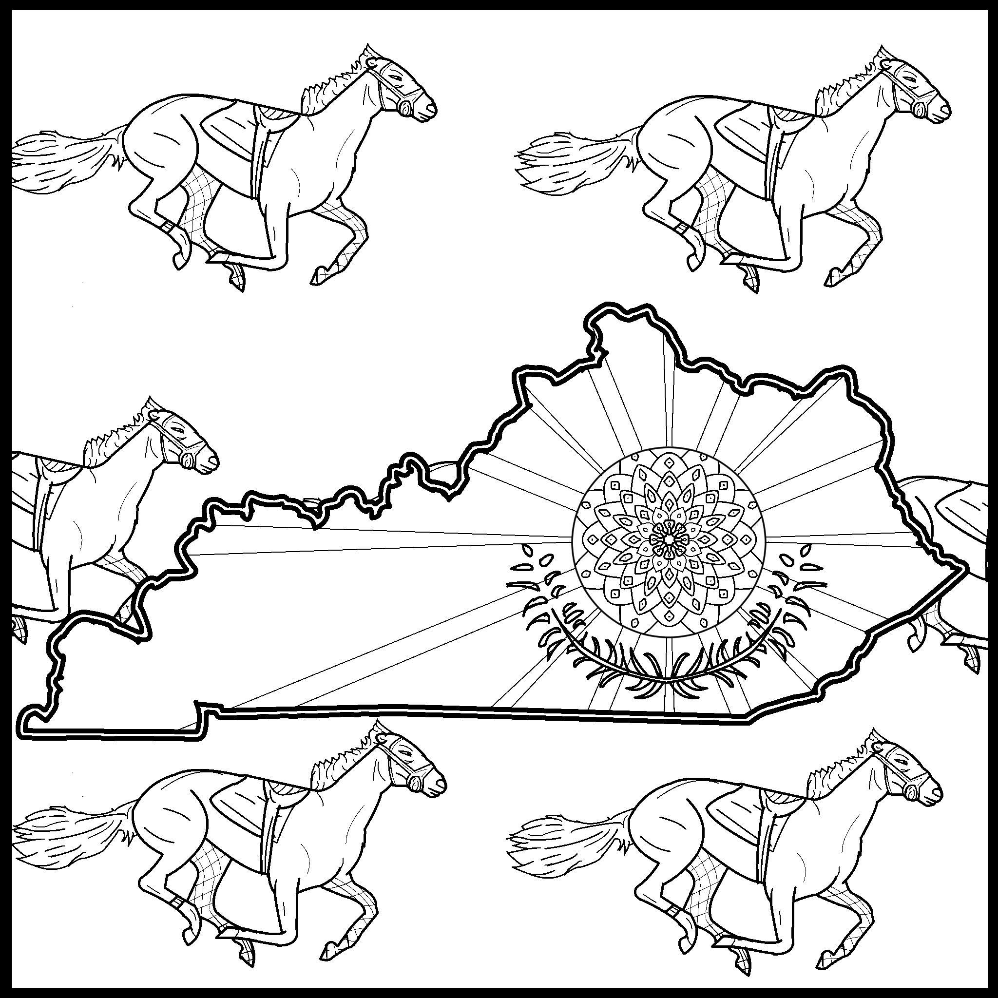 Kentucky Coloring Pages Monster Coloring Pages Kindergarten Coloring Pages Coloring Pages