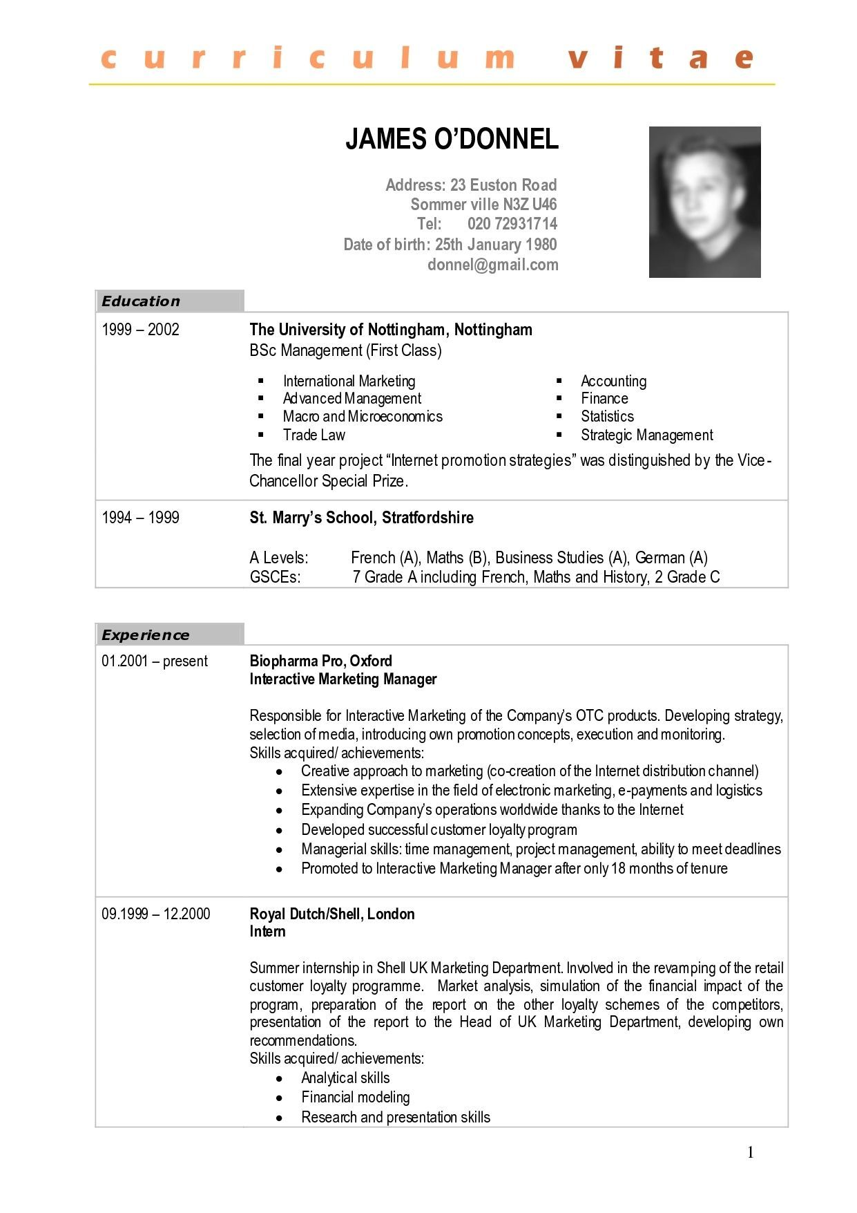Resume writing services Curriculum Vitae Francais
