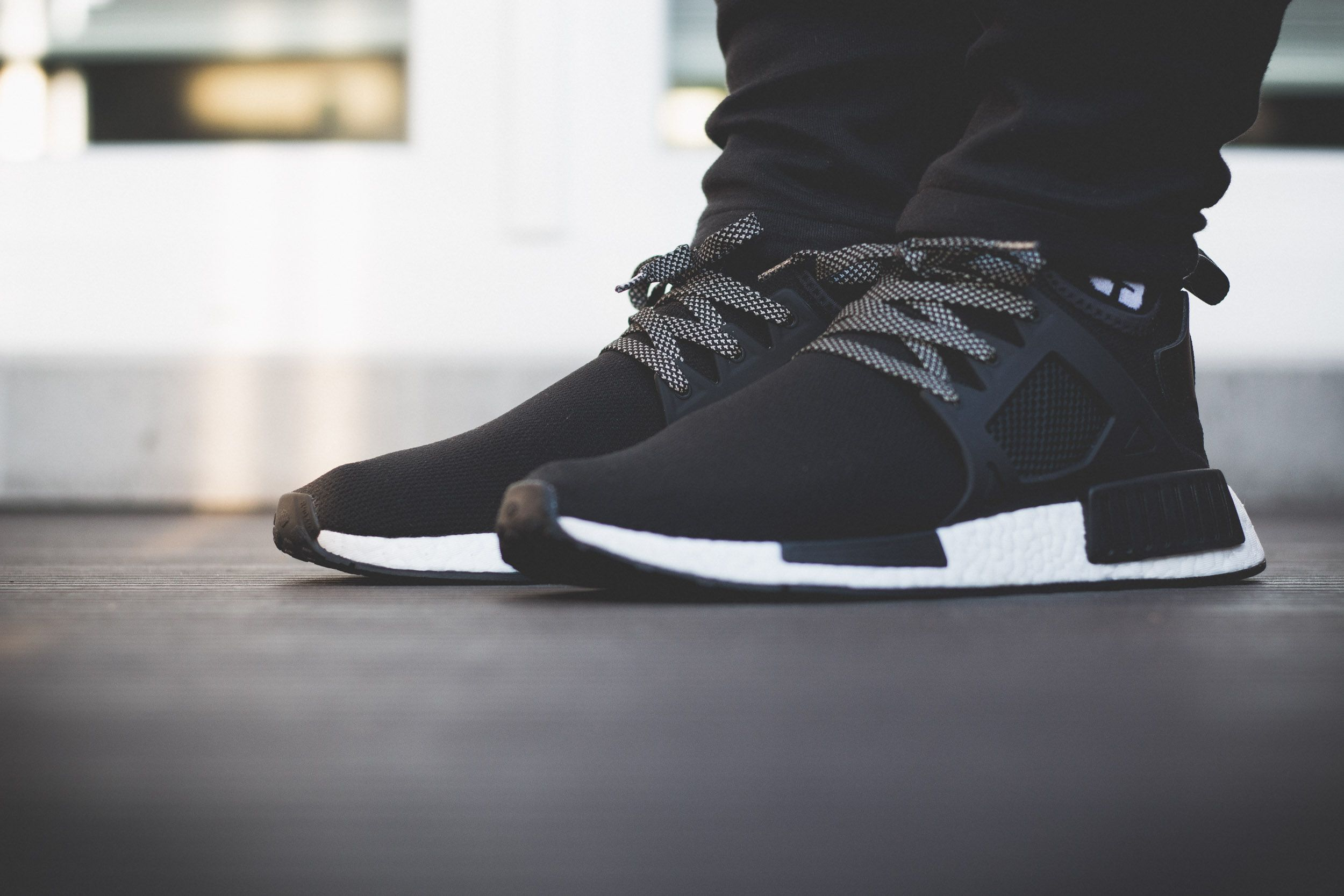 adidas NMD XR1 – Black White On Feet, #adidas