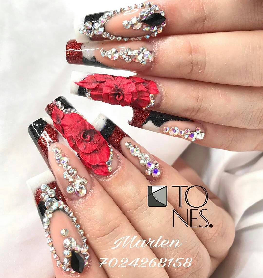Amazing Nail Art Made Using Tones Products | si | Pinterest | Arte ...